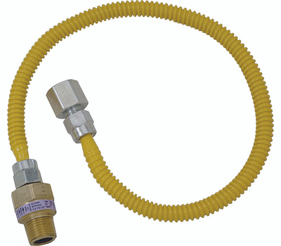 Brass Craft CSSL54-30 Plumb Shop Stainless Steel Gas Connector 1/2 Inch Female By 1/2 Inch Male By 30 Inch