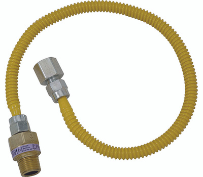 Brass Craft CSSL54-36 Plumb Shop Stainless Steel Gas Connector 1/2 Inch Female By 1/2 Inch Male By 36 Inch