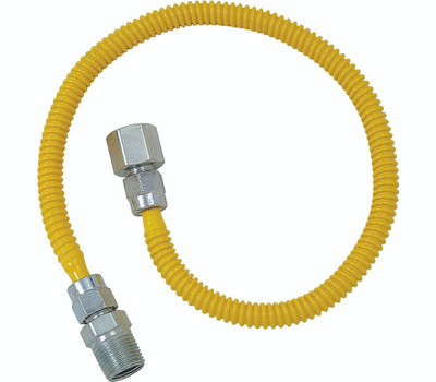 Brass Craft CSSL54-60 Plumb Shop Stainless Steel Gas Connector 1/2 Inch Female By 1/2 Inch Male By 60 Inch