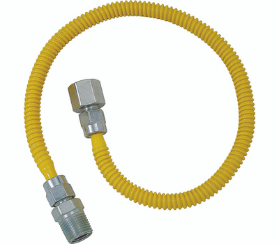Brass Craft CSSL54-36 P Plumb Shop Gas Dryer Connectors 1/2 Inch By 1/2 Inch By 36 Inch