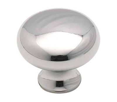 Amerock BP85326 Anniversary Classic Round Style 1-3/16 Inch Cabinet Knob In A Polished Chrome Finish