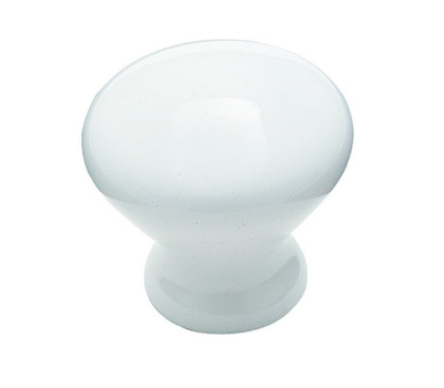 Amerock BP72530 Allison Value Collection Ceramic 1-5/16 Inch White Cabinet Knob 2 Pack