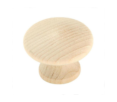 Amerock BP811-WD Allison Value Hardware Unfinished 1-1/4 Inch Cabinet Knobs Birch Wood 2 Pack