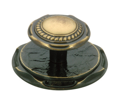 Amerock BP778AE Allison Value Hardware Carriage House Cabinet Knob And Backplate Antique Brass
