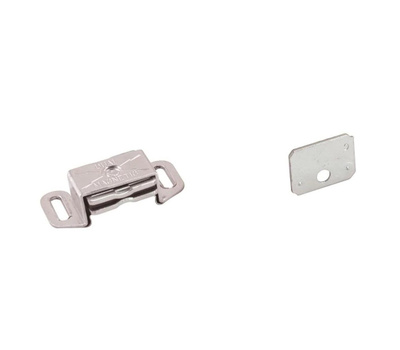 Amerock BP9783AL Magnetic Cabinet Catch With Strike In Aluminum