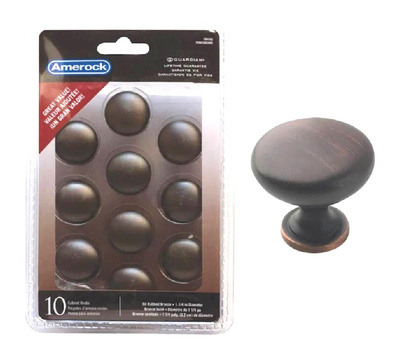 Amerock TEN53005ORB Allison Value Cabinet Knob 1-1/4 Inch Oil Rubbed Bronze 10 Pack