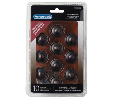 Amerock TEN53002ORB Allison Value Hardware Cabinet Knob 1-3/16 Inch Oil Rubbed Bronze 10 Pack