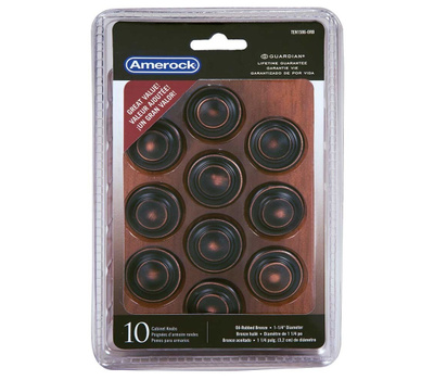Amerock TEN1586ORB Allison Value Hardware Cabinet Knob 1-1/4 Inch Oil Rubbed Bronze Pack Of 10