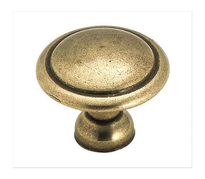 Amerock 848LB Allison Value Hardware Traditional 1-3/8 Inch Cabinet Knob In A Light Antique Brass Finish