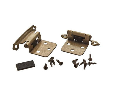 Amerock BPR3429BB Variable Overlay Cabinet Hinges In Burnished Brass