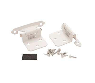 Amerock BP7139W Variable Overlay Face Frame Mount Self Closing Cabinet Hinge  White