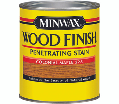 Minwax 22230 Colonial Maple Wood Finish Penetrating Stain 1/2 Pint Oil Based