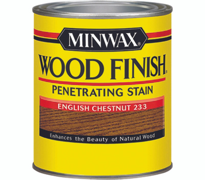 Minwax 22330 English Chestnut Wood Finish Penetrating Stain 1/2 Pint Oil Based