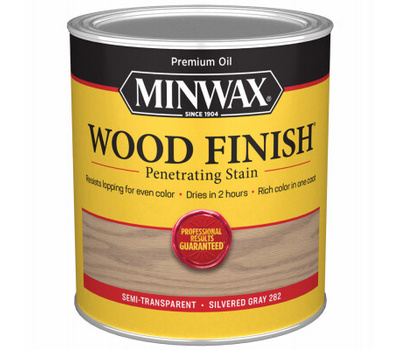 Minwax 701024444 Stain Wood Silvered Gry Finish