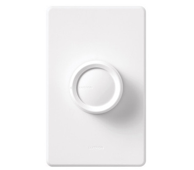 Lutron D-603PH-DK White Ivory Pushon Dimmer 3Way