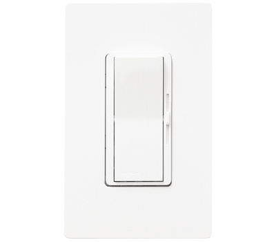 Lutron DVW-600PH-WH Diva White Single Pole Incandescent Dimmer