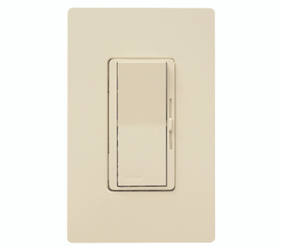 Lutron DVW-600PH-IV Diva Ivory Single Pole Incandescent Dimmer