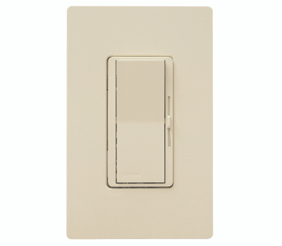 Lutron DVW-603PH-IV Diva Ivory Dimmer With Plate 3 Way
