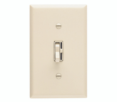 Lutron TG-600PH-IV Toggler Ivory Single Pole Switch And Dimmer