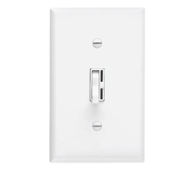 Lutron TG-600-PH-WH Toggler White 1 Pole Preset Toggle Dimmer
