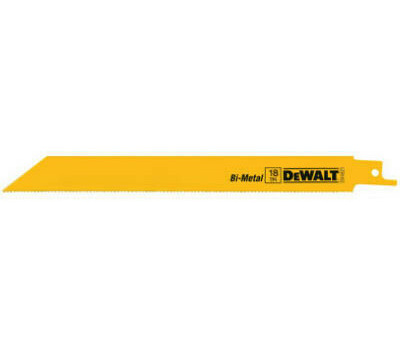 DeWalt DW4821 8 Inch 18 TPI Bi Metal Reciprocating Blade Pack Of 5
