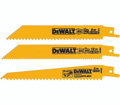 DeWalt DW4853 Reciprocating Blade 3 Piece Set