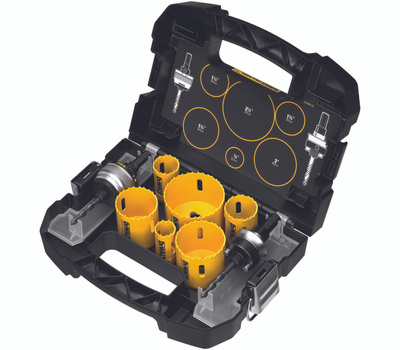DeWalt D180002 8 Piece Electricians Bi-Metal Hole Saw Kit