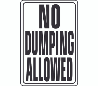Hy Ko HW-4 HW Series 12 Inch By 18 Inch Heavy Duty Aluminum Highway Sign No Dumping Allowed