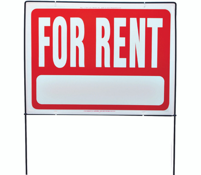Hy Ko RSF-603 18 Inch By 24 Inch Double Sided For Rent Framed Sign