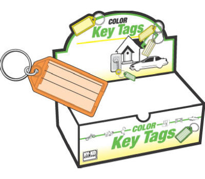 Hy Ko KB143-100 Easy Open Key Tag With Ring