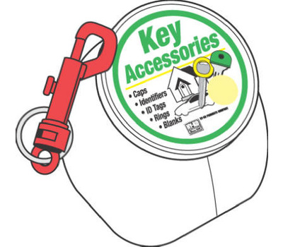 Hy Ko KT171 Plastic Key Snap Split Ring