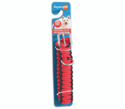 Petmate 02155 Collar Paracord 14-18In Red