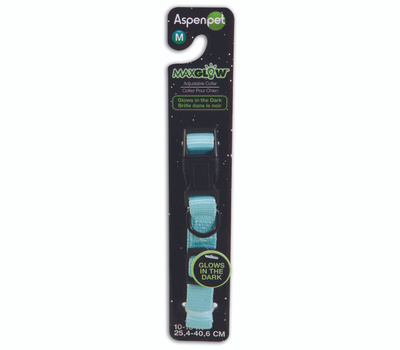 Petmate 02356 Collar Glow 5/8Inx10-16In Blue