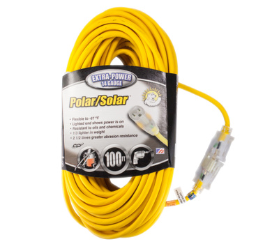 Southwire Coleman Cable 1489SW0002 13 Amp 14 Gauge 100 Foot Outdoor Extension Cord