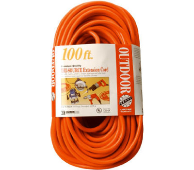 Southwire Coleman Cable 04219 100 Foot 14/3 3 Outlet Extension Cord