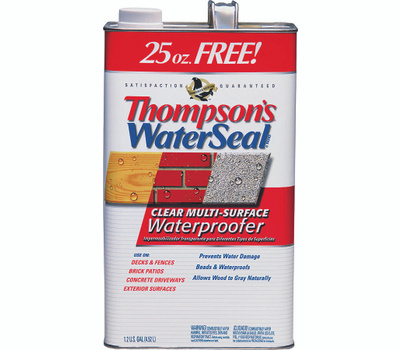 Thompsons 24111 Clear Multi Surface Waterproofer Low VOC 1.2 Gallons