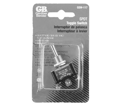 Gardner Bender ECM GSW-117 Heavy Duty Momentary Toggle Switch Single Pole Double Throw