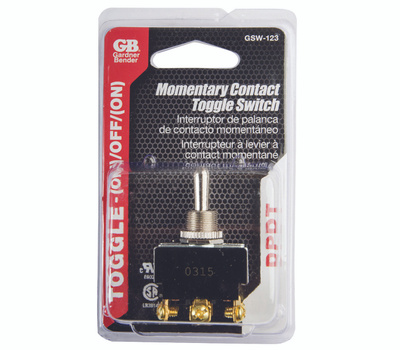 Gardner Bender ECM GSW-123 Momentary Contact Toggle Switch Double Pole Double Throw 20A On Off