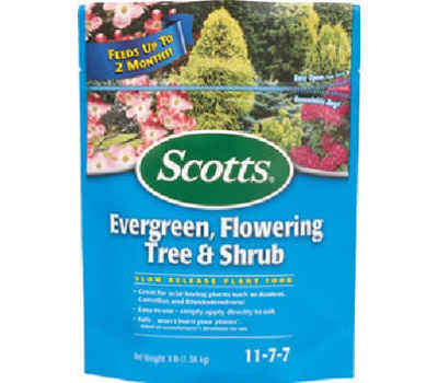 Scotts 1009101 3 Pound Evergreen Tree Food