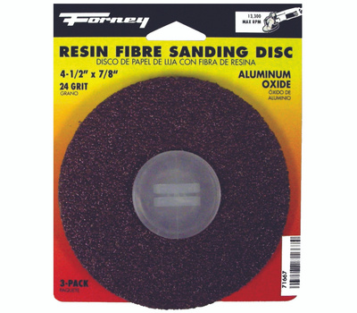 Forney 71667 Disc Sanding A/O 24Grit 4.5In