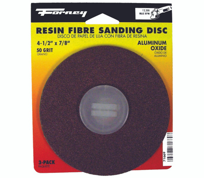 Forney 71669 Disc Sanding A/O 50Grit 4.5In