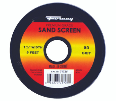 Forney 71725 Sand Screen 80 Grit 1-1/2X9ft