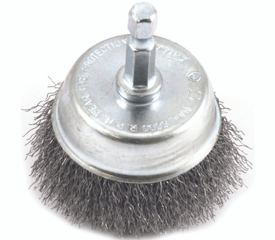Forney 72730 Brush Cup Wire 2x.008in 1/4hex