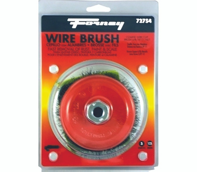 Forney 72754 Brush Cup Wire Crimp 5x. 014 Inch