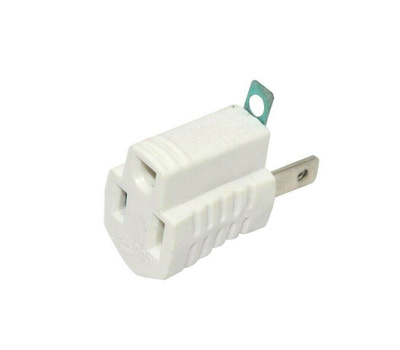Cooper Wiring Devices 419W 419W Grndng Adptr 2Pto3wire Wh