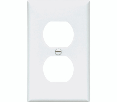 Cooper Wiring 5132W 1 Gang Nylon Duplex Receptacle Plate White
