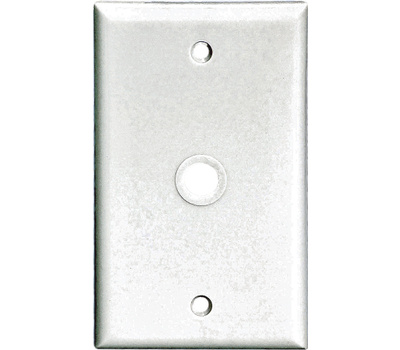 Cooper Wiring 2128W-BOX Standard Size Telephone & Coax Wall Plate Thermoset White