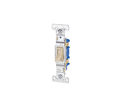 Cooper Wiring 1301V Switch Toggle 15A 120Vac Ivory