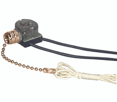 Cooper Wiring 458BD-BOX 1 Pole Pull Chain Canopy Switch 3 Amp