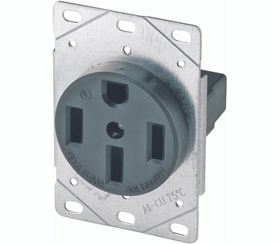 Eaton Cooper Wiring 1258-SP 50 Amp 4 Wire Grounded Power Receptacle